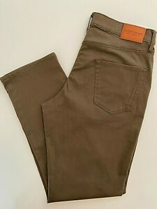 NWT $99 LUCKY BRAND 410 Athletic Slim Casual Mens Pants Jeans Dark Brown 34 x 32