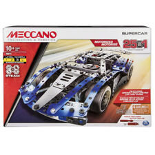 Meccano Supercar 25-in-1 Motorized Building Set with LED Lights - 20102060 - NEW