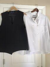 Bogo Xll White Unisex Chef Jacket Get Serving Vest Free/ Gently Used /Washed