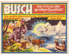 Zirkus Circus Busch 1937 Programmheft mit  Autogramm und Fotos von Frau Busch?