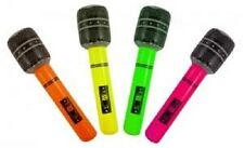 4 BLOW UP INFLATABLE MIC MICROPHONE NEONCOLOURS HEN/ STAG PARTY 40CM