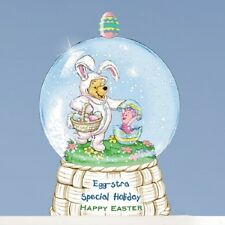 Winnie the Pooh Egg Special Easter Miniature Snow Dome / Water Globe  Disney