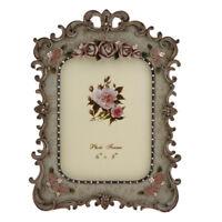 "Vintage Resin Rose Flower Photo Frame Picture Frame Table Display 6 x 8"""