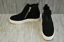 Steve Madden Wedgie-P Casual Comfort Sneaker, Women's Size 6M, Black Suede NEW