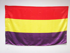 SECOND SPANISH REPUBLIC FLAG 3' x 5' in SATIN for a pole - SPAIN REPUBLICAN FLAG