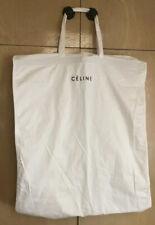 """CELINE Logo 46"""" Cotton Canvas Fabric Garment Suit Dress Bag Clothing Protector"""