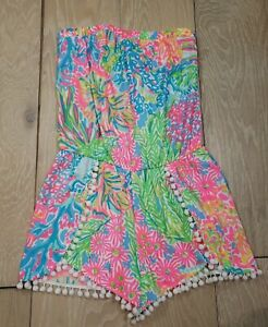 Women's Lilly Pulitzer Bright Multicolored Patterned Romper Size Small S
