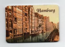 Magnet HAMBURG nostalgisch Fleet Speicher Kühlschrankmagnet Souvenir Neu