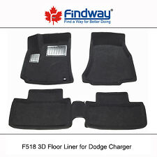 Black All Weather 3D Custom Car Floor Mats/ Liners for 2006-2010 Dodge Charger
