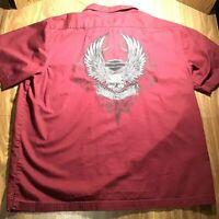 Mens Heritage Harley-Davidson Embroidered Mechanic Garage Motorycle Shirt XL