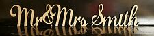 Personalized custom wedding Mr&Mrs Surname freestanding wooden letters sign 16cm