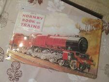 Blechschild Eisenbahn Dampflok Lok Horny Book of Trains Zug Bahn