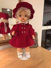 "New listing Terri Lee 16"" Red Velveteen Coat and Bonnet set, precious"
