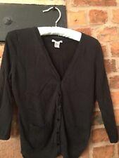 H&M Cardigan Lace Back Size Medium Black VGC