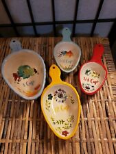 The Pioneer Woman - Willow Ceramic Measuring Scoops - 4 Piece Set