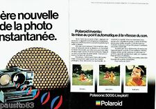 PUBLICITE ADVERTISING 126  1979   Polaroid land camera 5000 ( 2pages)