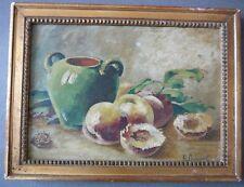 H. Grimaud. Peinture de Fruits Exotiques. l'abricot pays. Peintre XIXème Siècle.