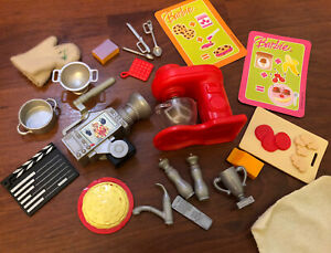 2008 Barbie I Can Be A Tv Chef Playset Kitchen Accessories Lot