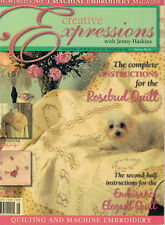 CREATIVE EXPRESSIONS issue 5 with Jenny Haskins Machine Embroidery