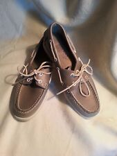 AUTHENTIC SEBAGO DOCKSIDES LEATHER BOAT SHOES METALLIC RED, WMN SIZE US 8 M NWOB