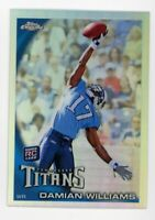 2010 Topps Chrome DAMIAN WILLIAMS Rookie Card RC REFRACTOR #C172 USC Trojans