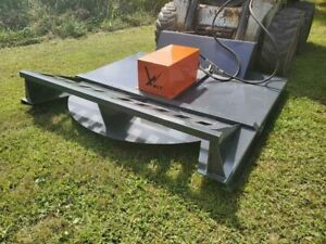 """NEW 72"""" OPEN FRONT BRUSH CUTTER ATTACHMENT SKIDSTEER QUICK ATTCH SHIPPING"""