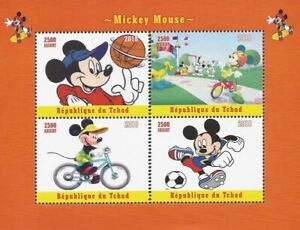 Chad - 2018 Mickey Mouse - Stamp Souvenir Sheetlet collectors stamps Walt Disney