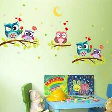 Cute Animal Kids Baby Owl Wall Sticker Mural Decals Removable Cartoon Home Decor
