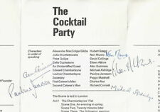 1968 Alec Guinness Eileen Atkins autograph MULTI-SIGNED theatre programme Munro