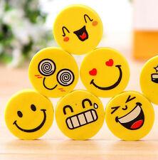 12pcs Funny Emoji Rubber Pencil Eraser Novelty Students Kids Stationery Gift Toy