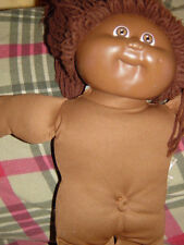 African American Cabbage Patch Kids Doll  1978 1982 Brown Yarn Hair No Clothes