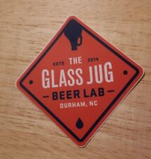 The Glass Jug Beer Lab Durham North Carolina Brewery Sticker decal IPA Ale Pale
