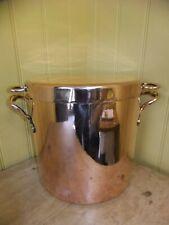 More details for antique copper stock pot