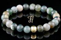 Indien Achat 925er sterling Silber vergoldet Armband Bracelet Perlenarmband 8mm