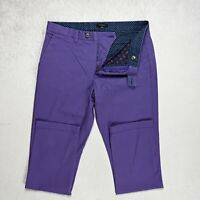 Mens TED BAKER Slim fit Chino Trousers Straight Stretch Size W34 L32 34R purple