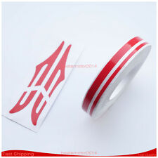 """12mm 1/2"""" PIN STRIPE PinStriping Double 4mm 2mm TAPE Decal Vinyl DIY Sticker RED"""