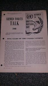 """Armed Forces Talk military magazine #346 """"Five Years of the United Nations"""""""