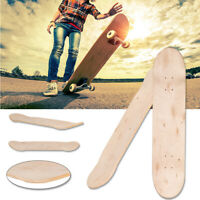 Maple Blank Double Concave Skateboards Natural Skate Deck Board 8-Layer 8inch