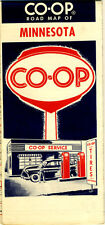 Vintage 1961 Minnesota Road Map from CO-OP Oil Co.