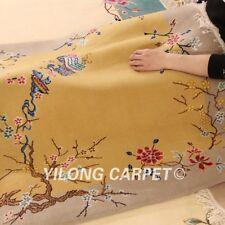 YILONG 4'x6' Handwoven Wool Area Rug Home Interior Oriental Carpet