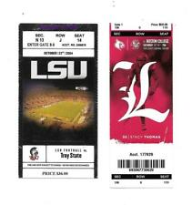 New listing LSU Tigers College Football Ticket- October 23rd, 2004 vs Troy State