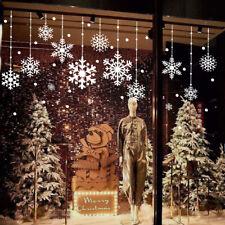 Christmas Reusable Window Snowflake Stickers Decal Reusable Cling Wall Decor UK