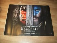 Warcraft UK Cinema Quad Poster d/s full size ORIGINAL