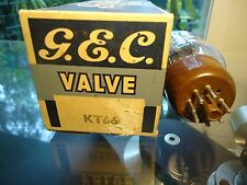 GEC KT66 BRITISH OLD STOCK CAP GETTER TESTED STRONG IN BOX VINTAGE VALVE TUBE