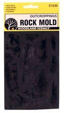 Woodland Scenics 1230 Rock Mold to Make Outcroppings, Flexible, Reusable - NIB