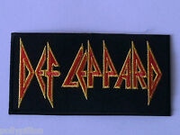 PUNK ROCK HEAVY METAL MUSIC SEW ON / IRON ON PATCH:- DEF LEPPARD (a) STRIPE