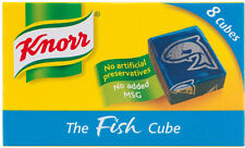 KNORR FISH STOCK CUBES 3 X 8 PACK **WILL SEND WORLDWIDE**
