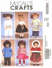 PATTERN for Apron Party dress Martial Arts doll Clothes McCalls 6006 fit AG 18in
