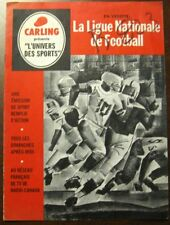 1960's Carling's NFL Schedule and Team rosters