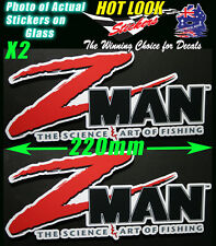 Z man Fishing Boat Stickers Suit 4X4 Caravan Camping Tandem Trailer Fridge Kayak